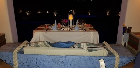 Our table at Oceana - facing the pool and ocean.