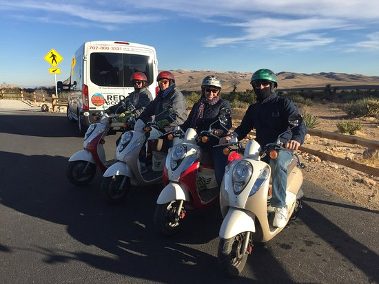 Scooter Tours of Red Rock Canyon: A quick photo opportunity before we headed off for last part of the tour, kindly taken by Justin