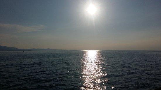 anochecer desde el puerto