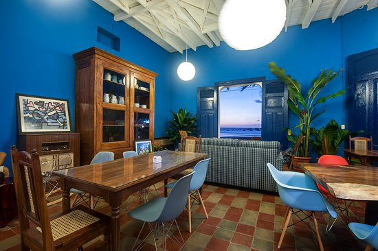 combination of old fashion and modern furnishing in the oldest building of San Juan del Sur