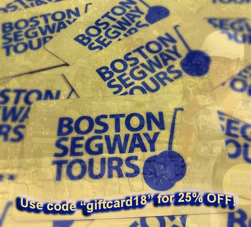 "Looking for great #gift #card #deals this #holiday season? GET 25% OFF w/code ""giftcard18"" at #Boston #Segway #Tours 🎄www.bostonsegwaytoursinc.com/gift"