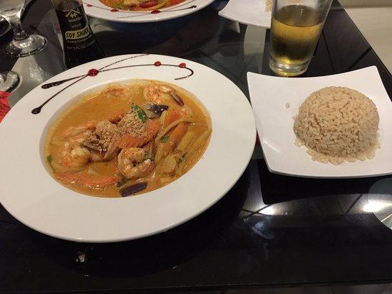 Green Papaya: Penang Shrimp Curry, with Brown Rice