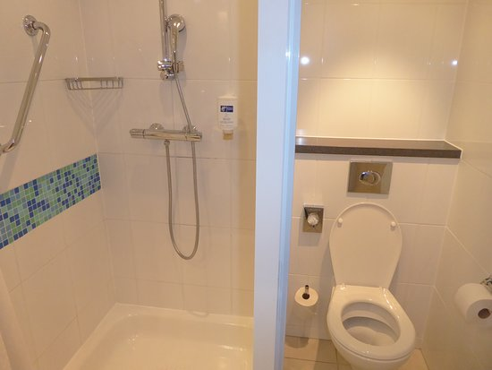 Holiday Inn Express Zurich Airport: Wand Shower and Toilet