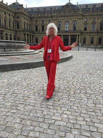 Wurzburg, Germany: Man in red!