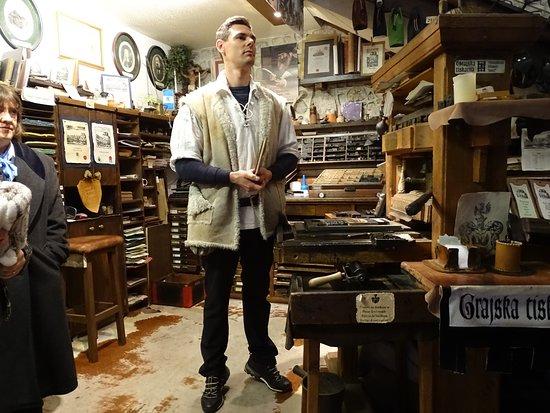 Блед, Словения: Middle age printing workshop at Bled Castle