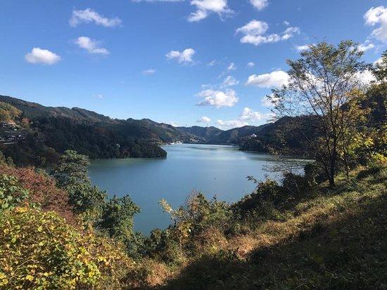 Shimokubo Dam: 神流湖です