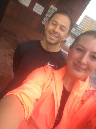 A nice morning run with this guy from Oregon. A little rain won't stop us!