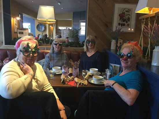 Goodwin's Restaurant and Bar: we are here with our funny glasses