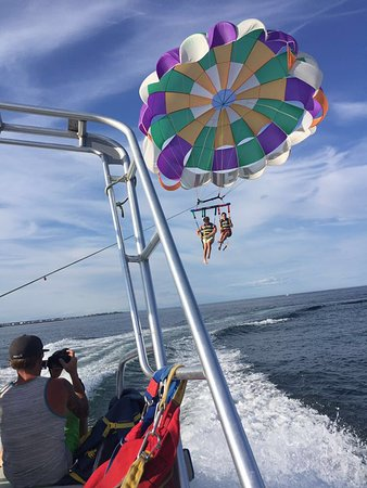 Parasailing at Hampton Beach in New Hampshire