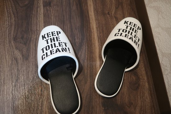 Sparky's House: Separate toilet slippers