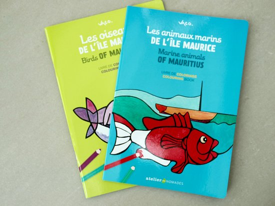 Drawing books for kids by the famous mauritian artist Vaco Baissac
