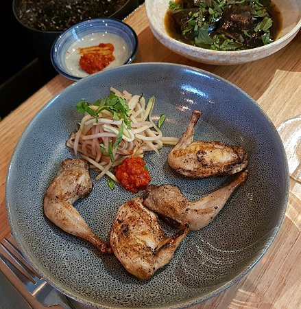 5-spice quail with kohlrabi salad