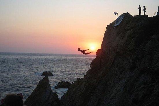 Acapulco Cliff Divers at Night