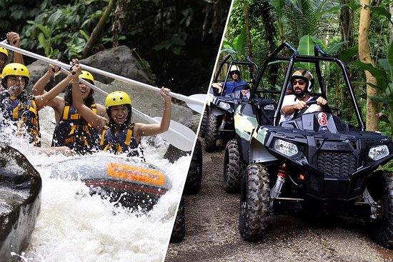在巴厘岛的白水漂流和丛林四驱车