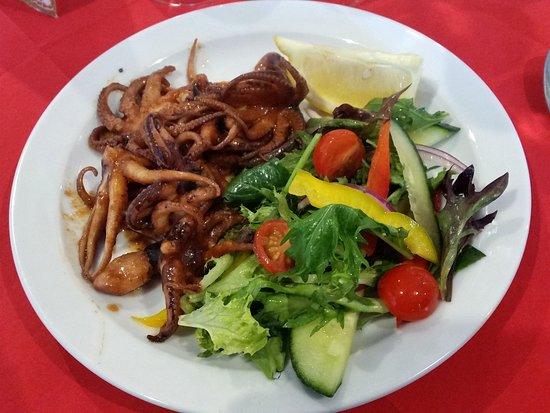 Marinated octopus - very tender!