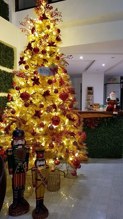Christmas display at the the Lobby