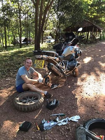 Kayin State, Myanmar: Glad that he enjoy our service and we also have fun from that bike tour.