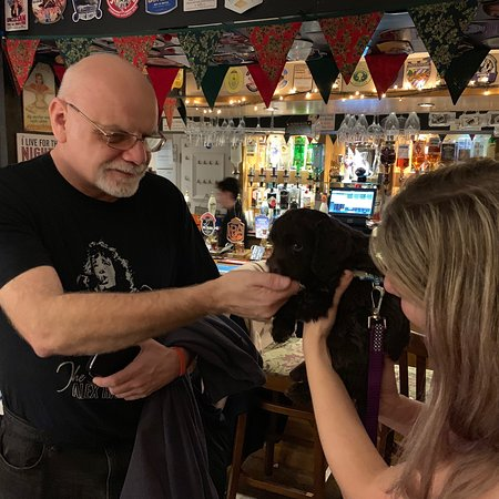 Brasted, UK: A new canine customer joins The Stanhope 'regulars'