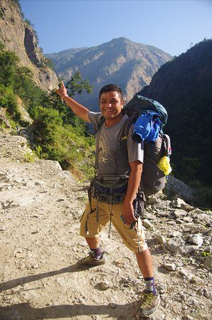 Our guide Bishow dahal