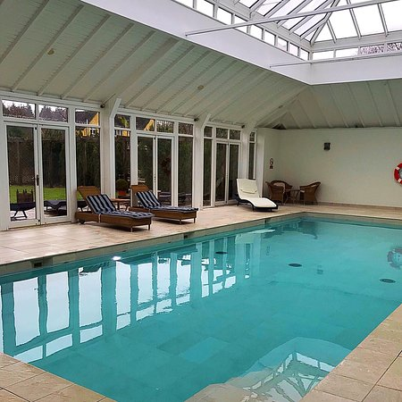 Pool at Bruern Cottages - read my article https://www.heatheronhertravels.com/luxury-cotswold-cottages-bruern-cottages/