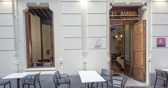 Fachada del Restaurante El Barrio de San Roque, Cartagena