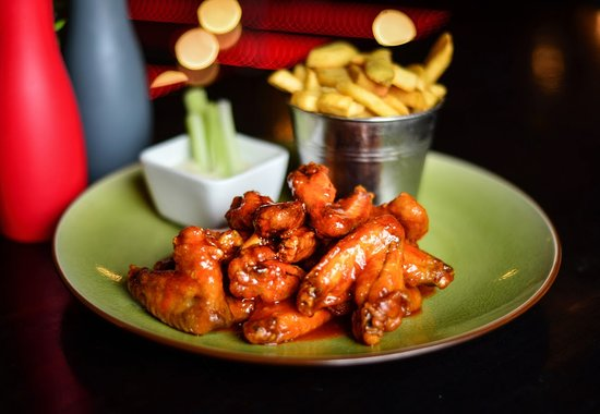 Russells Select Bar: Louisiana Chicken Wings- Russells serves 5 different types of wings  7 days a week from 12pm-9pm