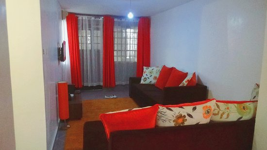 Nakuru, Quénia: Comfortable living room.