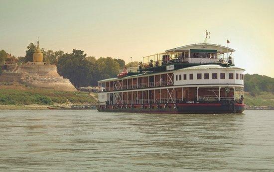 Pandaw River Cruises: RV Pandaw II near Pagan Burma