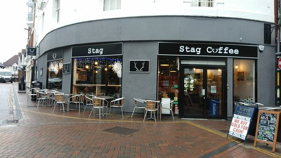 Stag Coffee: The facade.