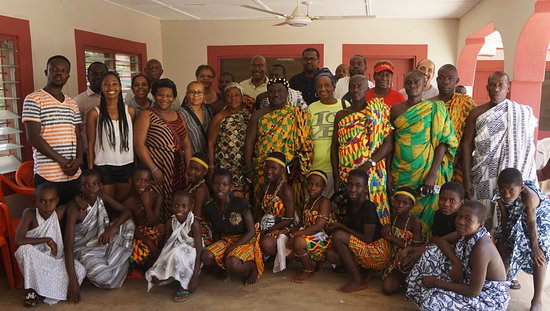 Gran Acra, Ghana: Courtesy call on the Chief and elders at the Palace