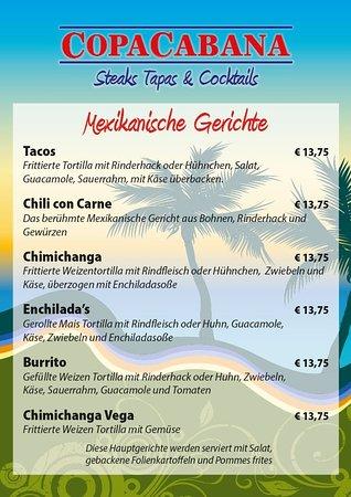 Unsere mexikanischen Gerichte