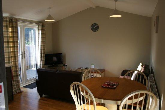 Oakwood lounge and dinning area