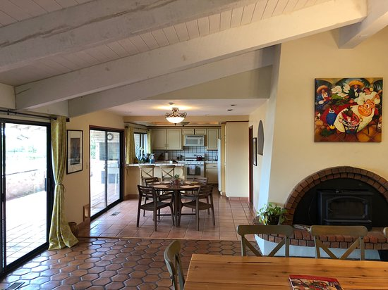 View from living room looking toward kitchen.
