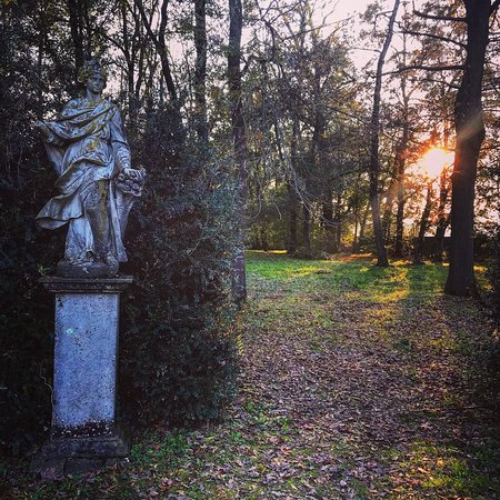 Gli splendidi giardini della Fondazione Magnani Rocca si ergono nel tutto il loro splendore in una fredda giornata novembrina...