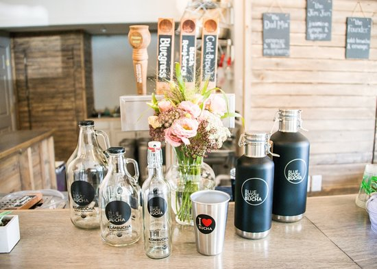 Blue Ridge Bucha: Select from these refillable bottles, or bring your own!