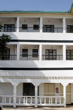Siaya White Hotel Balconies Side View