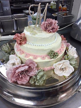 wedding cake baked fresh in-house