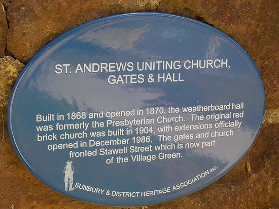 Historic plaque for St Andrews