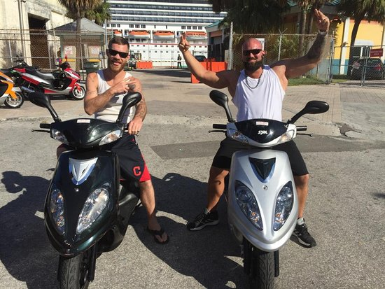 Are you adventurous? Then feel free to grab a scooter and sight see on your own or with friends. Enjoy the Bahamian Sights, Food and Culture without a guide.