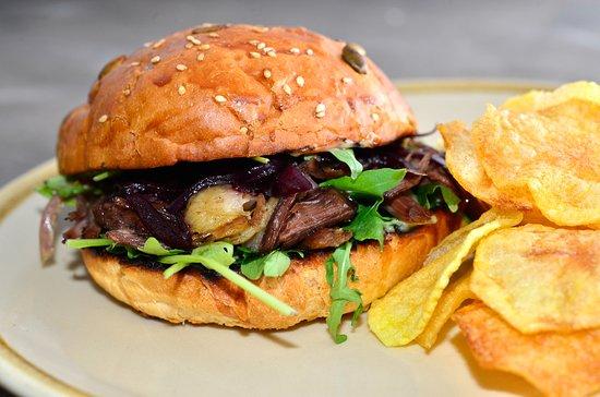 La Nuci Restaurant & Ballroom: Duck Burger