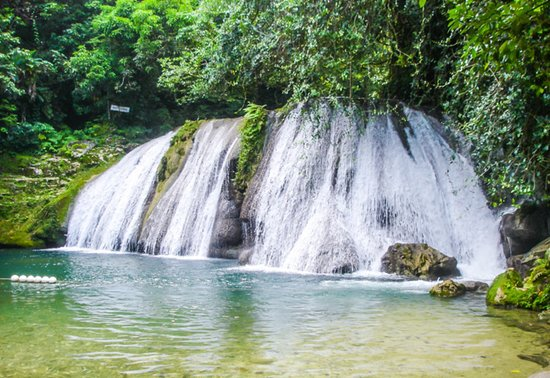 Приход Портленд, Ямайка: Reach Falls in Portland Jamaica. Beautifully situated at the foot hills of the John Crow Mountain and boasts a natural heart-shaped Jacuzzi.