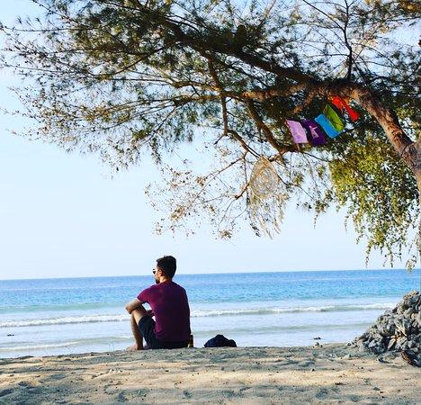 Calm effect of the ocean at Villa Sunset Beach's beach