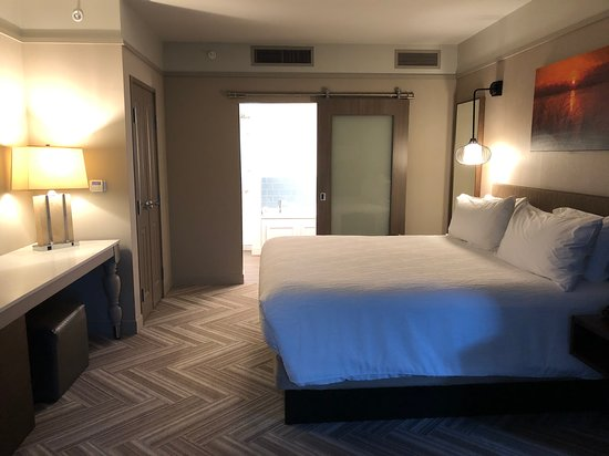 King bed suite (facing the bathroom)