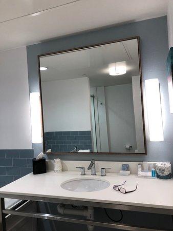 King bed suite bathroom