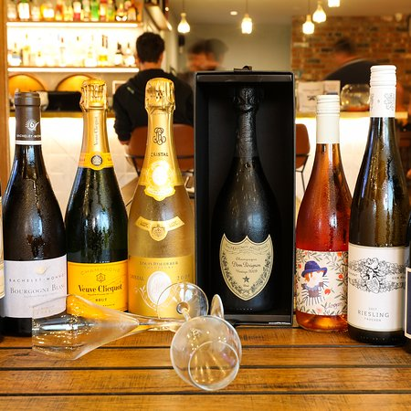 We have a wide range of Champagne and boutique organic wines to choose from.