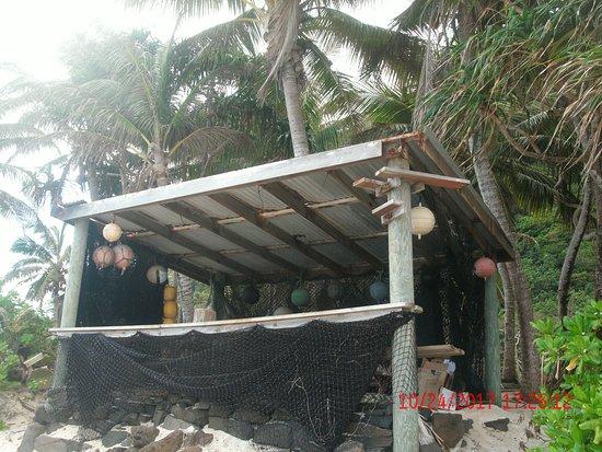 Ofu, Amerikanisch-Samoa: Vaoto Lodge--Cabana on beach