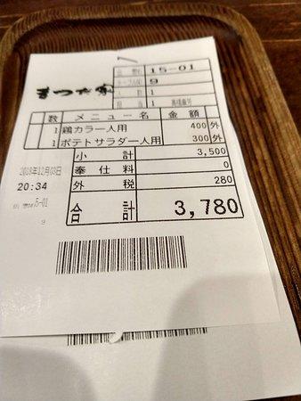 Stuffed full for only 3780 yen お腹一杯でお得な会計