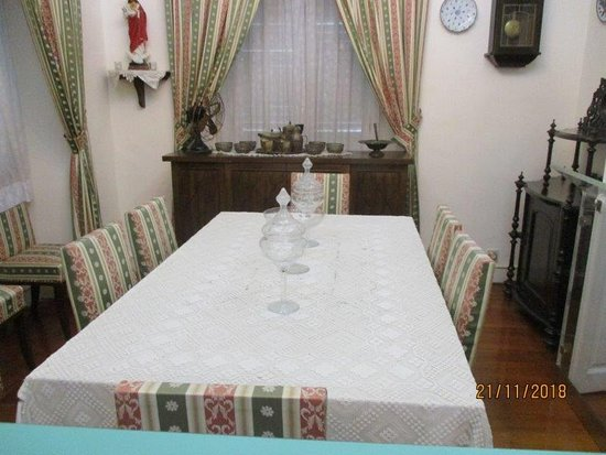 The Taipa Houses Museum: the dining room in the first house