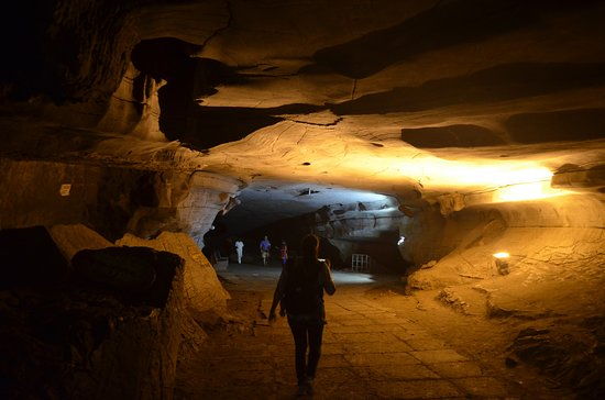 Belum Caves: going inside, it was well lit at many places