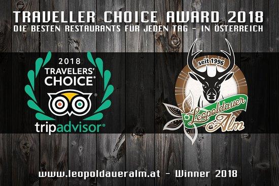 XXL Restaurant Leopoldauer Alm: 5th Time AWARD !!!!!